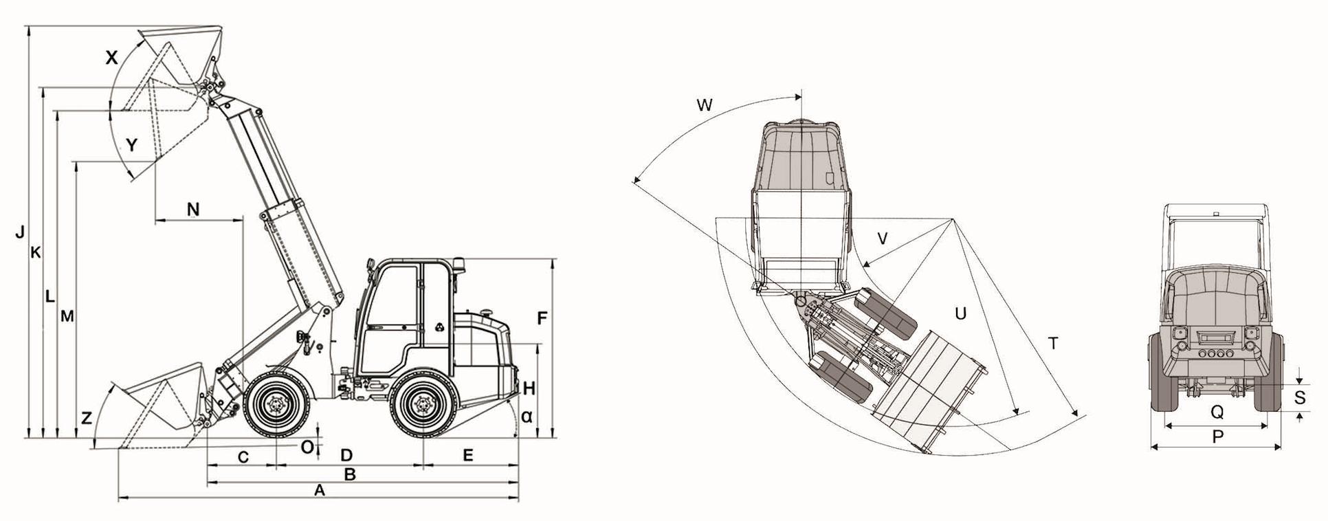 Dimensions Illustration Télescopique